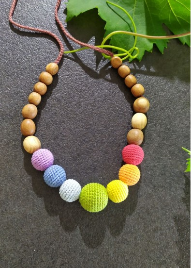 Collier d'allaitement Simple Rainbow