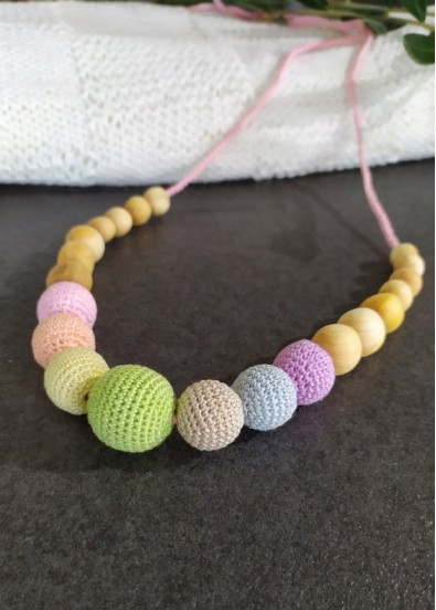 Collier d'allaitement Neutral Rainbow