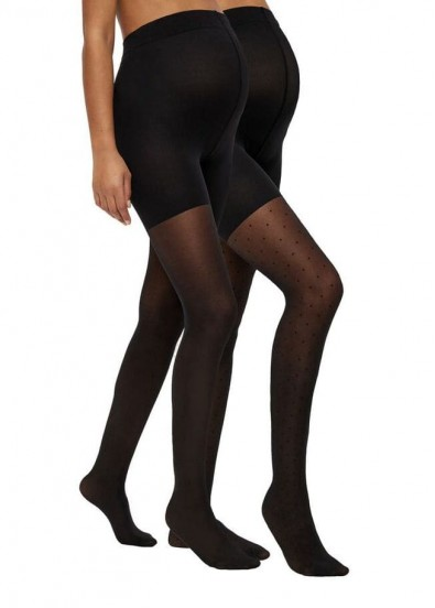 Lot de 2 collants de grossesse AMY 20DEN Noir