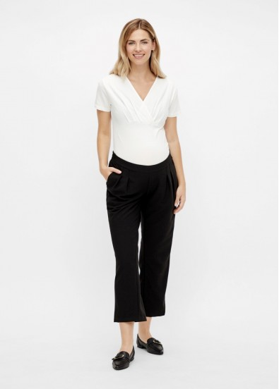 Pantalon de grossesse 7/8 IDA Business-Noir