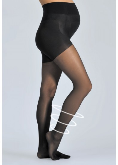 Collants de grossesse ACTIV LIGHT 30 D Noir