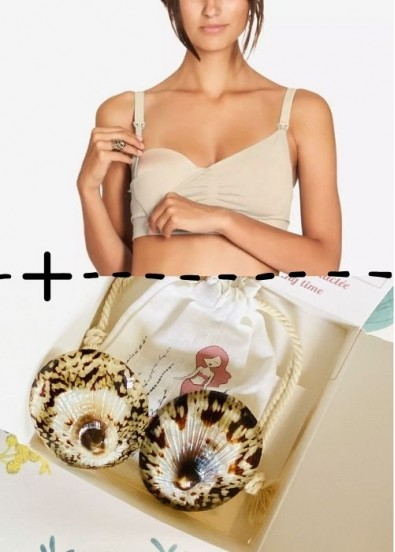Pack coquillages Baby Shell + Brassière d'allaitement Barbara Nude